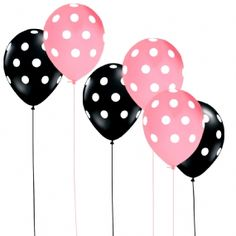 polka dot pink and black