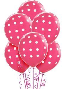polka dot pink